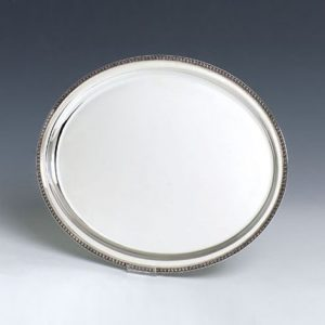 Tray, Silver Round