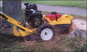 Stump Grinder, 20hp. Self - Propelled