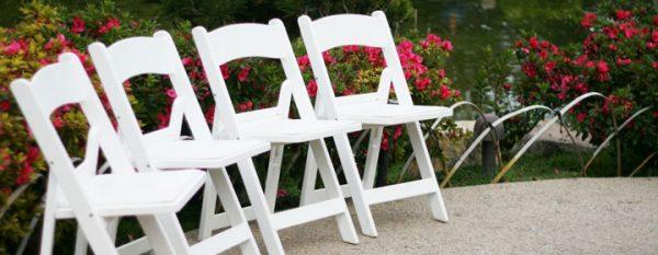 Chair Garden White Resin