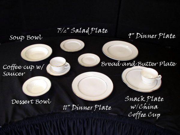 """China Plate (10"""" Snack)"""