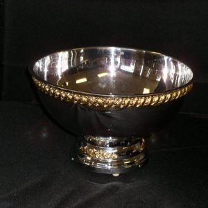 Punch Bowl (Gold Trimmed Stainless)