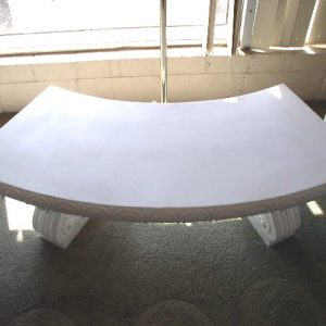 Bench, White Plastic