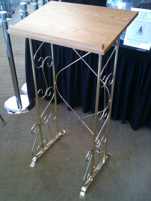 Podium, Brass, Silver or Wrought Iron