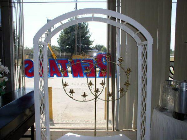 Arch (White Lattice)